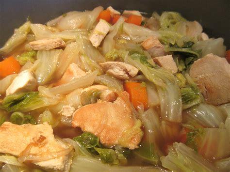 chou chinois cuisine potée de chou chinois et poulet diet délices