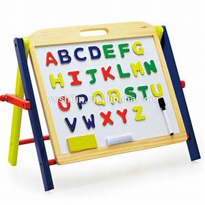 wooden mini easel kids white board toy collapsible With magnetic letters and numbers and board