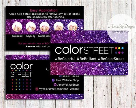 color street business cards color street  custom