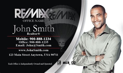 Black Remax Business Cards Templates black and white remax realty business card design 101041