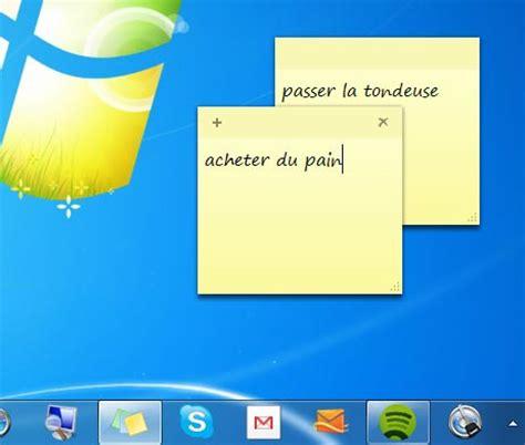 post it windows 7 bureau comment mettre bloc note windows 7