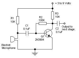 Pre Amp Electret Mic
