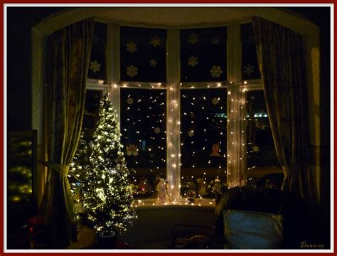 christmas window ideas for bay window my window decorations we didn t get the snow flickr
