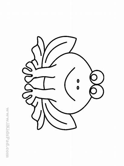 Coloring Easy Pages Simple Printable Frog Toddlers