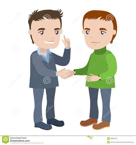 bureau stock deux hommes se serrant la illustration stock image