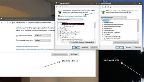 Windows 10 1607 Microsoft ändert Die Energieoptionen In