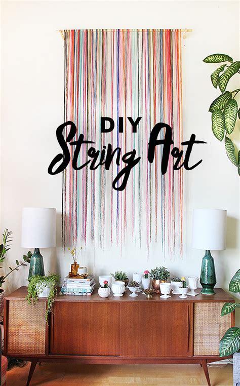 diy string wall art  sweet escape creative studio