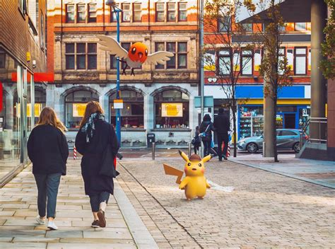 New Live-action Pictures Of Detective Pikachu In Ryme City