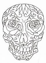 Skull Sugar Coloring Pages Drawings Girly Tattoo Drawing Skulls Cute Printable Deviantart Metacharis Tattoos Designs Candy Adult Flash Line Print sketch template