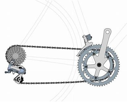 Bicycle Gear Drivetrain Bike Ratios Chain Rear