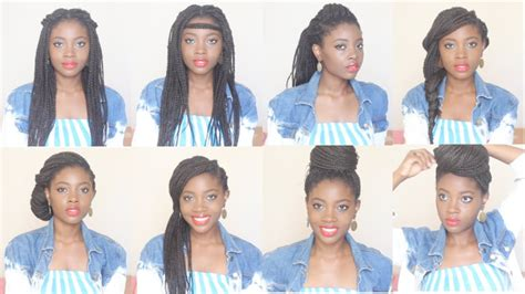 style box braids  hairstyles   minutes youtube