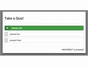 bootstrap modal code examples bootsnippcom With javascript quiz template