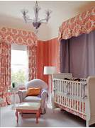 Curtains In The Nursery For Girls Girl S Nursery In Coral And Purple This Colorful Girl S Nursery