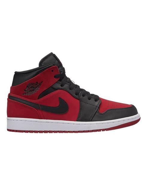 zapatillas air jordan  retro mid en rojo  negro