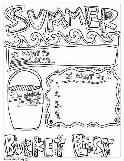 Graphic Summer Doodle Alley Doodles Bucket Organizers