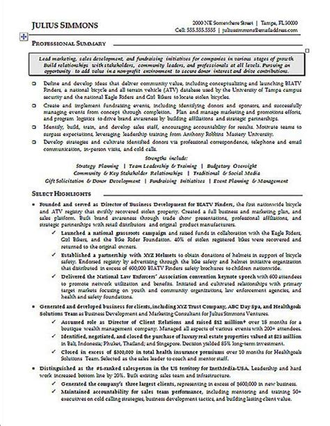 Executive Resume Best Practices by Sle Marketing Executive Resume Gallery Creawizard