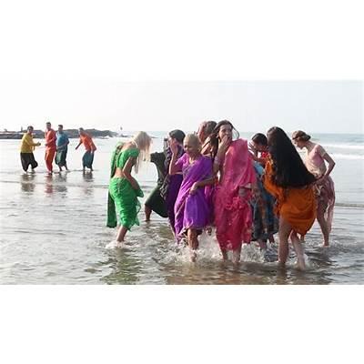Goa India February 28 2015: Unidentified People Dancing