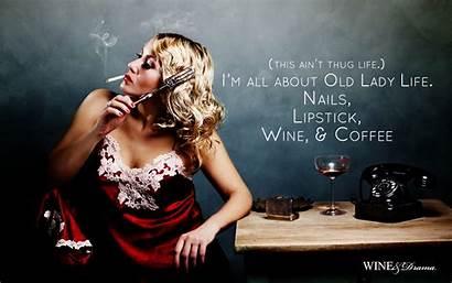Lady Desktop Wallpapers Drinking Morning Wine Tablet
