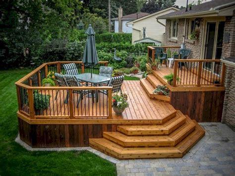cool backyard deck design idea  backyard deck designs