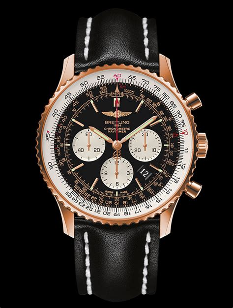 Lv 01 Rosegold Limited the most luxury replica breitling navitimer 01 gold