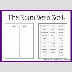 Free Parts Of Speech Worksheets The Nounverb Sort