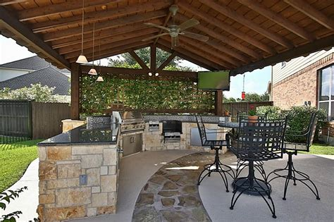 custom outdoor kitchen designs custom built outdoor kitchen with patio cover in cypress 6402