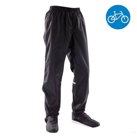 regenhose fahrrad herren fahrrad regenhose city 500 schwarz b decathlon