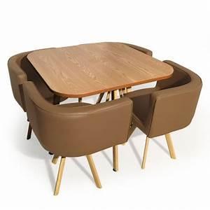 Table Et Chaise Scandinave : table et chaises scandinaves dinner taupe pas cher ~ Melissatoandfro.com Idées de Décoration