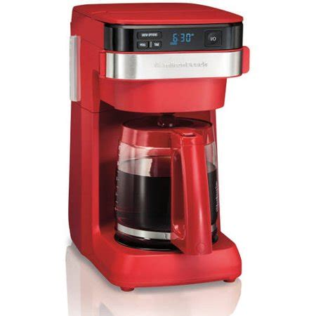 This hamilton beach 12 cup coffee maker comes equipped with some solid features that will catch the attention of those who are searching for a versatile coffee maker. Hamilton Beach 12-Cup Programmable Coffee Maker   Model# 46301 - Walmart.com