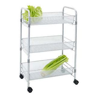 kitchen storage trolleys mesh cart 3 tier kitchen storage trolley lakeland 3194