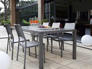 table et chaise de jardin en aluminium emejing salon de With table de jardin aluminium leroy merlin 1 table de jardin romantique ronde gris graphithe 4