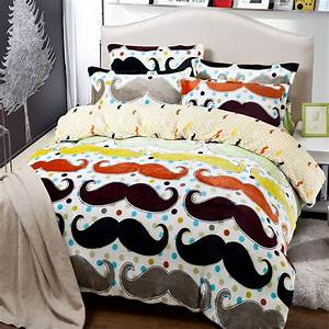 Mustache bedding set full queen quilt duvet cover king ...