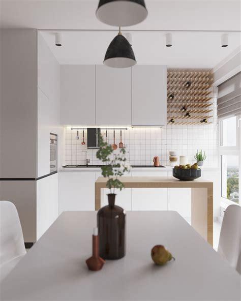 cuisine blanche et bois clair cuisine moderne blanche et bois clair