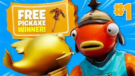 rare  pickaxe winner  fortnite mythic goldfish
