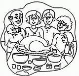 Coloring Thanksgiving Dinner Turkey Pages Happy Clipart Cliparts Dinners Clipartpanda Meal Popular Clip Library Cake Designs Favorites sketch template