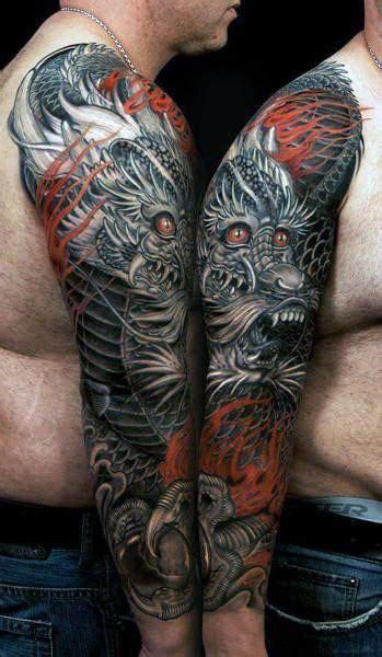 chinese dragon tattoo designs  men flaming ink ideas