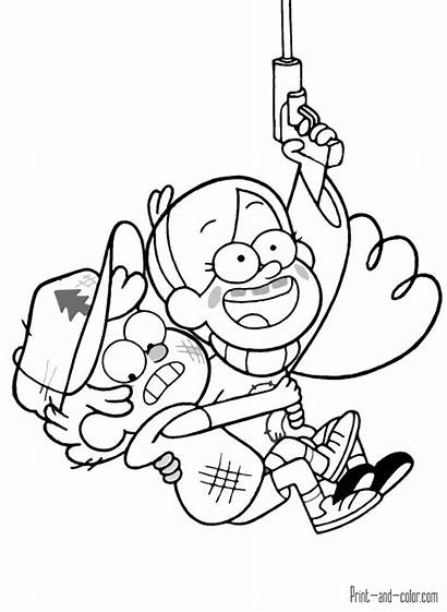 Gumball Coloring Pages Amazing Gravity Falls Printable