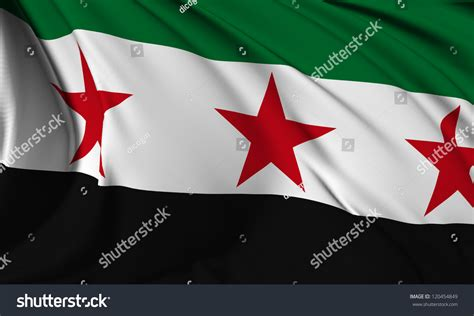Syria Republic Flag Syrian National Coalition Stock