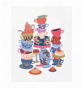 Teacups Art Print by RIFLE PAPER Co Made in USA