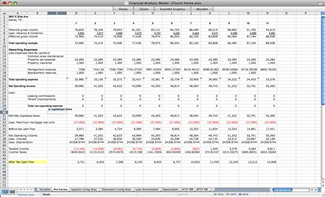 Real Estate Pro Forma Cash Flow Template