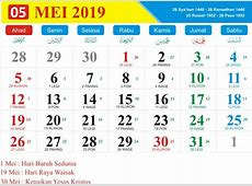 Kalender Jawa Bulan Mei Tahun 2019 Hari buruh 2019 dan