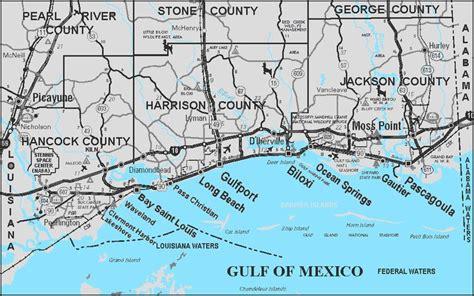 mississippi gulf coast | Map of Mississippi Gulf Coast ...