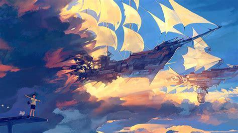 wallpaper  desktop laptop az fly ship anime