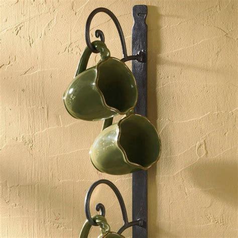 cottage  mug vertical rack iron accents