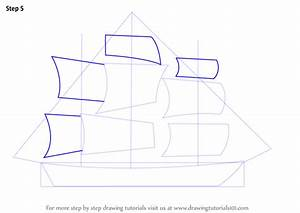 Learn How to Draw a Ship for Kids (Boats and Ships) Step ...