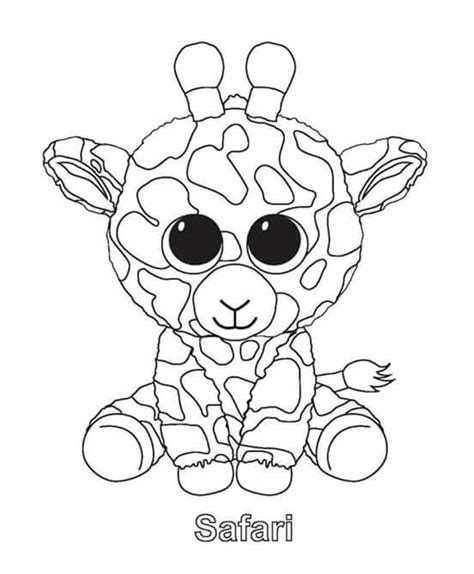 Giraffe Peuter Kleurplaat by Pin Carla Rupke Op Ty Beanie Kleurplaten Kleurplaten