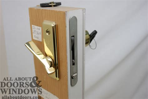 andersen sliding door lock replacing a sheared tailpiece receiver in an andersen