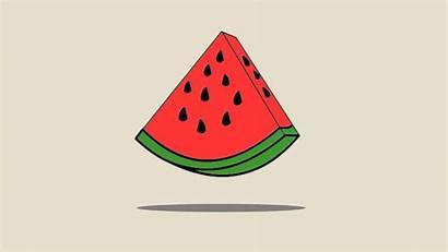 Watermelon Vector Minimalism Melon Cartoon Laptop Background