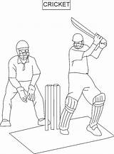 Cricket Coloring Pages Sports Sport Printable Drawing Colouring Game Getcoloringpages Getdrawings Coloringme sketch template