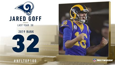 jared goff qb rams top  players   nfl